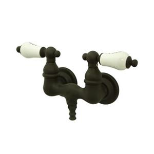 Elements of Design Hot Springs Oil Rubbed Bronze Vintage TubWall Clawfoot Tub and Shower Filler