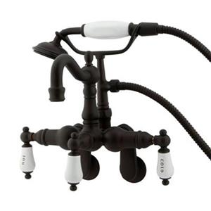Elements of Design 10-in Oil Rubbed Bronze Hot Springs Clawfoot Tub and Shower Filler