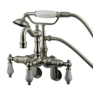 Elements of Design Chrome 10-in Satin Nickel Hot Springs Clawfoot Tub and Shower Filler