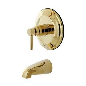 Elements of Design 7.50-in Polished Brass NuVo Single Handle Tub and Shower Spout