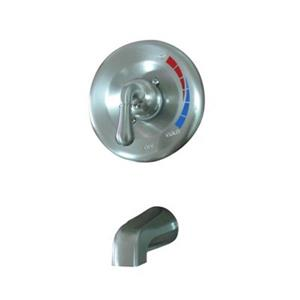 Elements of Design 6.75-in Satin Nickel Shower Faucet Pressure Balanced Tub Spout System