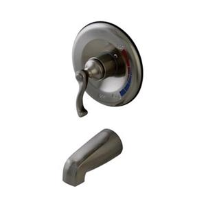 Elements of Design 6.75-in Satin Nickel Pressure  Balanced Tub and Shower Faucet System