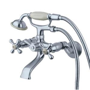 Elements of Design 4-in Chrome Clawfoot Tub and Shower Faucet
