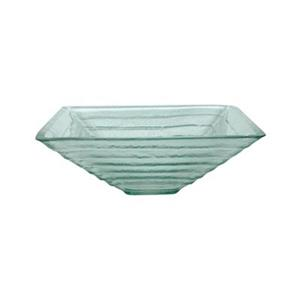 Elements of Design Fauceture Glass 16.50-in x 16.50-in White Square Vessel Sink