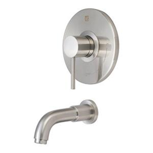 Pioneer Industries 6.13-in Brushed Nickel Single Handle Trim Tub Spouts and System