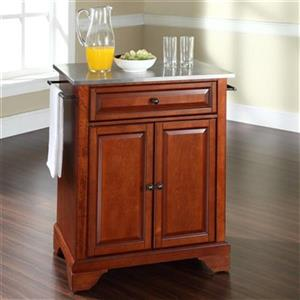 Crosley Furniture Lafayette 18-in x 28.25-in x 36-in Portable Kitchen Island