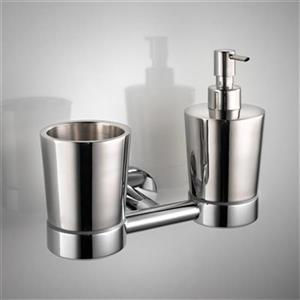 WS Bath Collections Napie Wall Mounted Tumbler And Soap Dispenser Holder