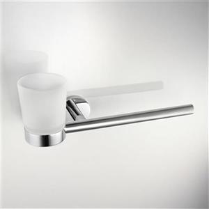 WS Bath Collections Napie Wall Mounted Toothbrush Holder With Tumbler And Towel Bar