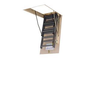 "Fakro Scissor Attic Ladder - 25"" x 47"" - Steel - Gray ..."