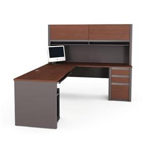 Bestar 938 Connexion L-Shaped Workstation with Hutch,93859-3