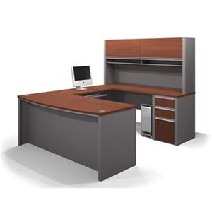 Bestar 938 Connexion U-Shaped Workstation with Hutch,93879-3