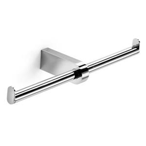 WS Bath Collections Muci 5534 Complements Polished Chrome Double Toilet Paper Holder
