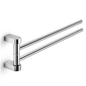 WS Bath Collections Muci 15-in Polished Chrome Double Swivel Towel Bar