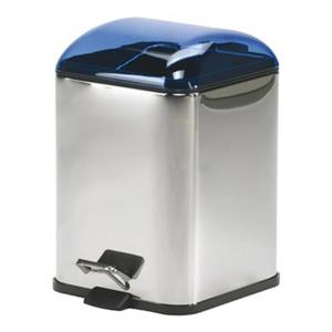 WS Bath Collections Karta Collection Complements 11.40-in x 8.30-in Blue Foot Pedal Waste Basket