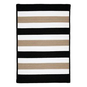 Colonial Mills Portico 2-ft x 12-ft Sharp Black Indoor/Outdoor Area Rug