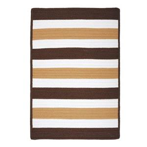 Colonial Mills Portico 2-ft x 12-ft Espresso Stripe Indoor/Outdoor Area Rug
