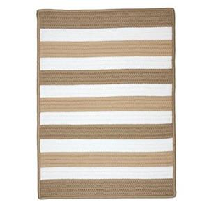 Colonial Mills Portico 7-ft x 9-ft Sand Striped Indoor/Outdoor Area Rug