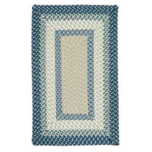Colonial Mills Montego 4-ft x 6-ft Blue Burst Indoor/Outdoor Area Rug
