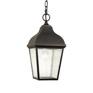 Feiss Terrace Collection 8-in x 16.75-in Oil-Rubbed Bronze Lantern Pendant Light