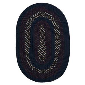 Colonial Mills Deerfield 4-ft x 4-ft Midnight Blue Indoor/Outdoor Area Rug