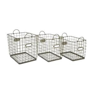 IMAX Worldwide Newbridge Wire Storage Baskets (Set of 3)
