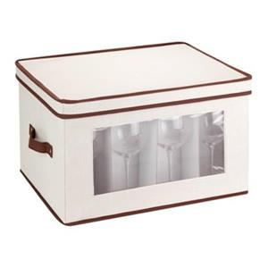 Honey Can Do 8.50-in x 13.88-in Off White Window Storage Box