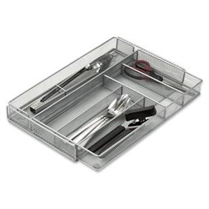 Honey Can Do 16.5-in x 11-in Steel Mesh Expandable Cutlery Tray