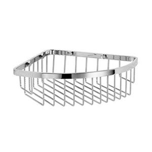 WS Bath Collections Filo 9.40-in Polished Chrome Corner Shower Basket