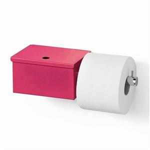 WS Bath Collections Scondi 5137 Complements Red Toilet Paper Holder With Storage