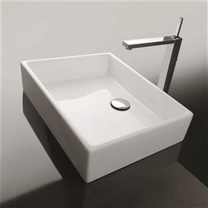 WS Bath Collections Unlimited 50A 19.7-in x 14.8-in White Ceramica Valdama Bathroom  Sink