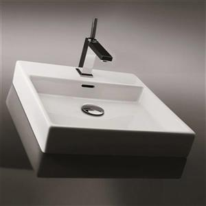 WS Bath Collections Ceramica Valdama Bathroom Sink,Plain 45W