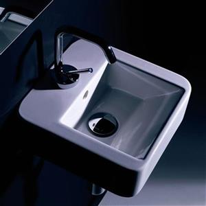 WS Bath Collections Kerasan 11.8-in x 11.8-in White Rectangular Bathroom Sink