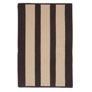 Colonial Mills 8-ft x8-ft Brown/Cream Striped Boat House Indoor/Outdoor Area Rug