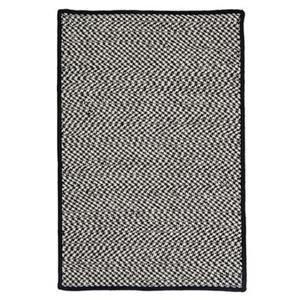 Colonial Mills 2-ft x 10-ft Grey Houndstooth Tweed Indoor/Outdoor Area Rug