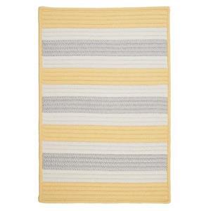 Colonial Mills Stripe It 4-ft x 4-ft Yellow Indoor/Outdoor Area Rug