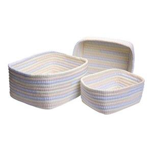 Colonial Mills 8-in x 14-in Multicolour Ticking Stripe Nesting Basket Set