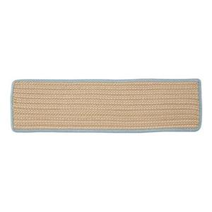 Colonial Mills Boat House 8-in x 28-in Light Blue Stair Tread Mat - 13/pack