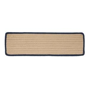 Colonial Mills Boat House 8-in x 28-in Navy Stair Tread Mat - 13/pack