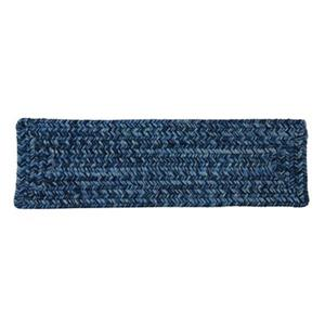 Colonial Mills Catalina 8-in x 28-in Blue Wave Stair Tread Mat - 13/pack