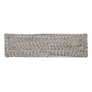 Colonial Mills Corsica 8-in x 28-in Silver Shimmer Stair Tread Mat - 13/pack