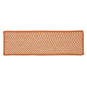 Colonial Mills Outdoor Houndstooth Tweed 8-in x 28-in Orange Stair Tread Mat - 13/pack