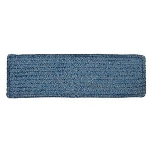 Colonial Mills Simple Chenille 8-in x 28-in Petal Blue Stair Tread Mat - 13/pack