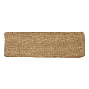 Colonial Mills Simple Chenille 8-in x 28-in Sand Bar Stair Tread Mat - 13/pack