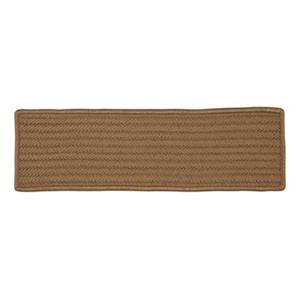 Colonial Mills Simply Home Solid 8-in x 28-in Cashew Stair Tread Mat - 13/pack