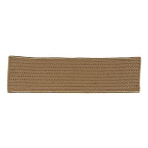 Colonial Mills Simply Home Solid 8-in x 28-in Cafe Tostado Stair Tread Mat - 13/pack
