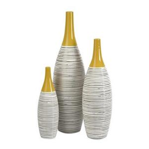 IMAX Worldwide Andean Multi Glaze Vases (Set of 3)