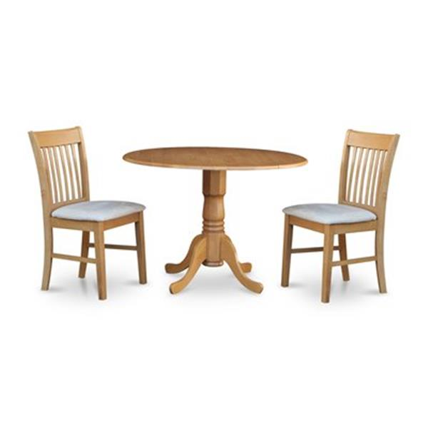 East West Furniture Dublin Round Dining Set With Microfiber Lowe S Canada