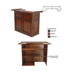 RAM Game Room Products 60-in English Tudor Wood Bar