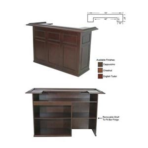 RAM Game Room Products 72-in Chestnut Brown Wood Bar