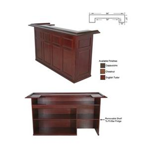RAM Game Room Products Cappuccino Brown 84-in Wood Bar